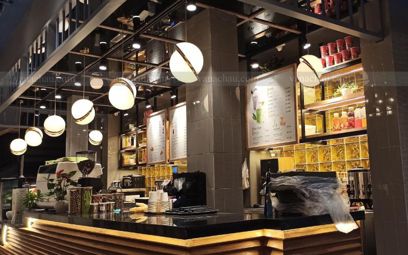 Gạch kính VAC-INDO trong công trình cafe